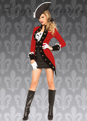 Leg Avenue Rebel Red Coat Pirate Costume - Red Pirate Coat