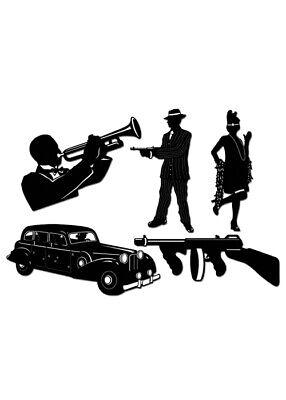 20er Jahre Gangster-Party ausgeschnitten - 20er Party Dekorationen