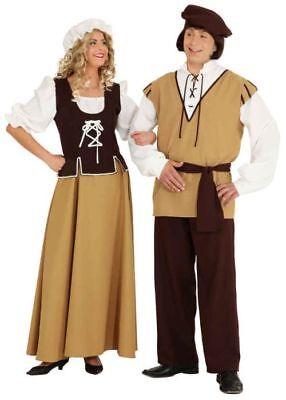 Damen Kostüm Mittelalter Magd Kleid mit Haube zu - Mittelalter Magd Kostüme