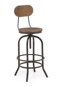 RESTAURANT INDUSTRIAL SWIVEL BAR STOOL COUNTER STOOL
