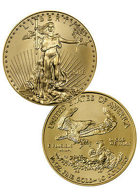 2016 $10 1/4 Troy Oz American Gold Eagle Coin SKU38294
