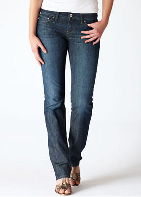 (New Ladies LEVI'S Modern Bold Curve Straight Denim Jeans Size  25