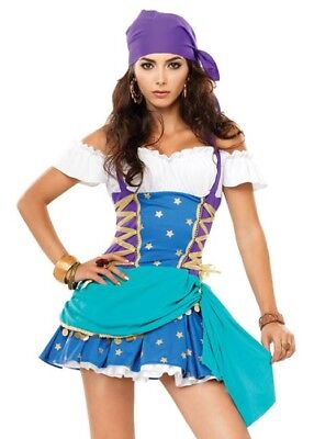 Gypsy Princess Fortune Teller Ladies 2 Piece Costume, Size XL UK 14-16. NEW. - Gypsy Costumes Uk