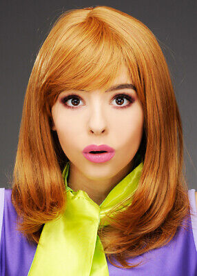 Womens Deluxe Daphne Style Auburn Wig - Daphne Scooby Doo Wig