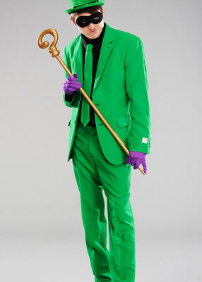 Adult Mens The Riddler Style Green Suit Costume INCLUDES JACKET, TROUSERS & - Riddler Suit Costume
