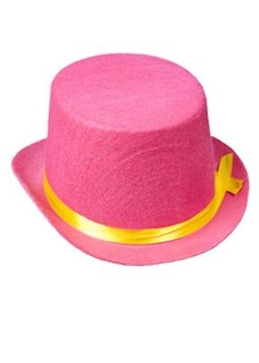 Child Size Top Hat (Kids Size Circus Clown Pink Top)