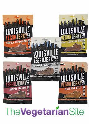 Louisville Vegan Jerky: 5 FLAVORS! meatless, vegetarian gift, FREE PRIORITY MAIL