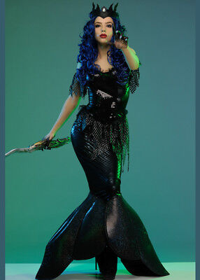 Womens Gothic Dark Water Mermaid Costume](Dark Mermaid Costume)