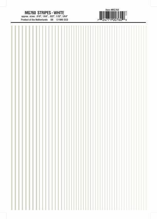 Woodland Scenics Model Graphics Stripes White MG760