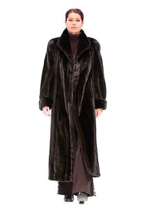 Dark Mahogany Full Length Mink Coat
