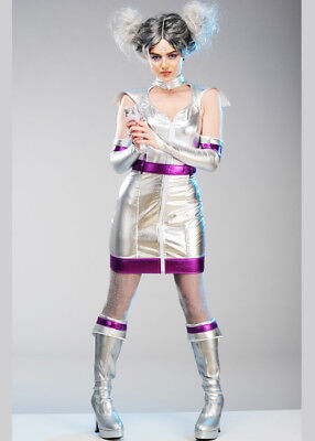 Womens Silver Alien Space Girl Costume](Alien Girl Costumes)