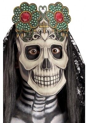 Adults Day Of The Dead Mask Fancy Dress - Adult Day Of The Dead Skull Maske