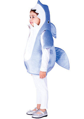 S GIRLS BOYS DELUXE SHARK FISH SEA ANIMAL COSTUME AGE 2-4-6 (Shark Girl Kostüm)
