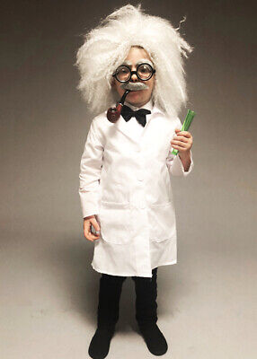 Childrens Size Einstein Style Mad Scientist Costume