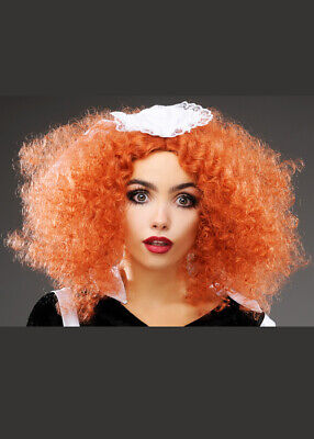 Rocky Horror Style Frizzy Ginger Magenta Wig DOES NOT INCLUDE MAID HEADPIECE - Magenta Rocky Horror Wig