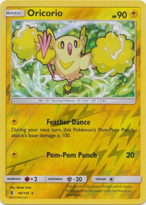 Pokemon 4X Oricorio 55//145 Sun /& Moon Guardians Rising Rare PERFECT MINT
