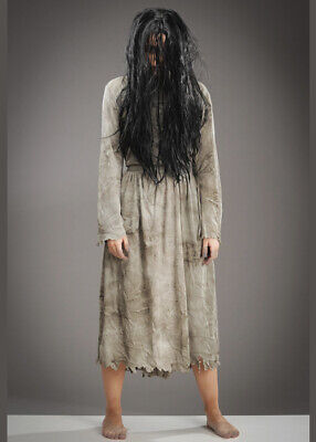 Womens Halloween Costumes With Wigs (Womens Halloween The Ring Girl Style Costume with)