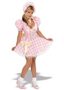Ladies Little Bo Peep Fancy Dress Party Costume Size XS UK 8