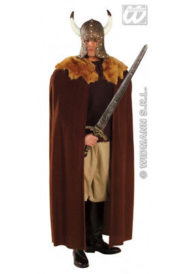 Adult Halloween Brown Gothic Warrior Cape