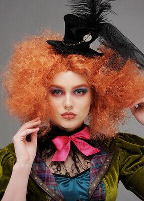 Lockige Auburn Mad Hatter Perücke für Damen