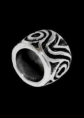 Mittelalterliche Bartperle und Lockenperle aus Silber