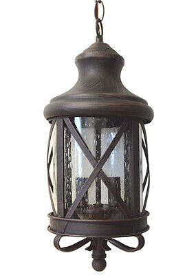 Aluminum Outdoor Exterior Lantern Ceiling Hanging Lighting Fixture Rusted Sconce ()