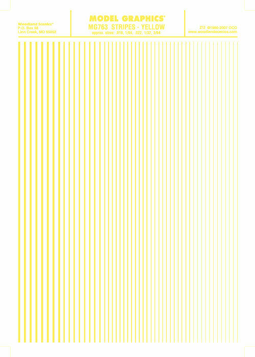 Woodland Scenics Model Graphics Stripes Yellow MG763