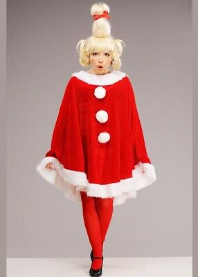 Cindy Lou Costumes (Erwachsene The Grinch Style Cindy Lou Who Kostüm mit)