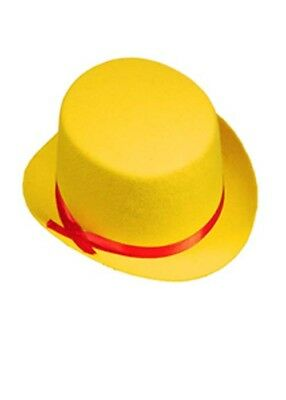 Child Size Top Hat (Kids Size Circus Clown Yellow Top)