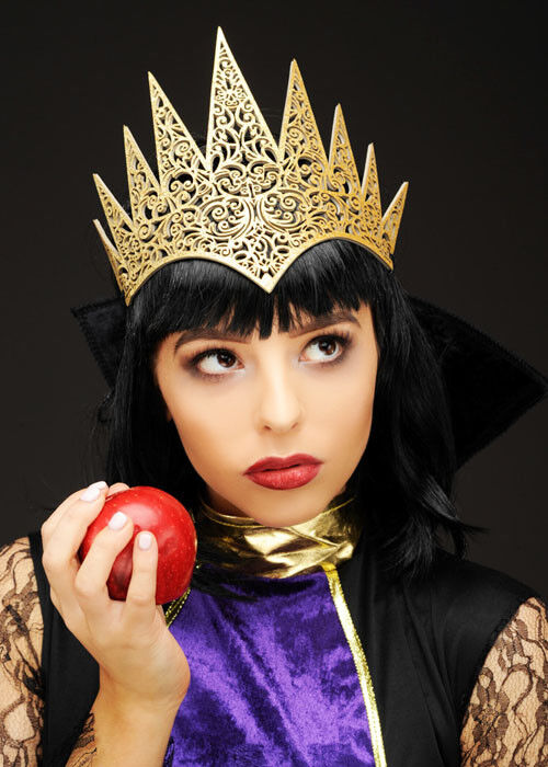 Snow White Wicked Queen Style Gold Fancy Dress Cosplay Crown Headpiece