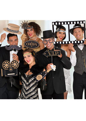 1920s Hollywood Party Jumbo Photo Booth Props Pk12 (1920s Photo Booth Props)
