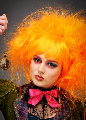 Womens Orange Mad Hatter Style Perücke
