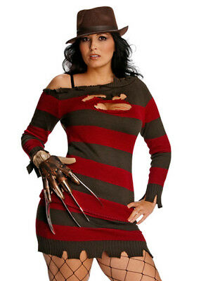 Plus Size Ladies Sexy Miss Freddy Krueger - Plus Size Freddy Costume