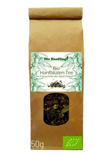 *BIO- Hanfblüten-Tee – Finola- Feinschnitt 50 g- THC-frei*