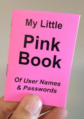 Pink Password Organizer Booklet