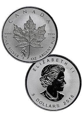 2016 Canada $5 1 Oz Reverse Proof Silver Maple Leaf - Bigfoot Privy SKU40568