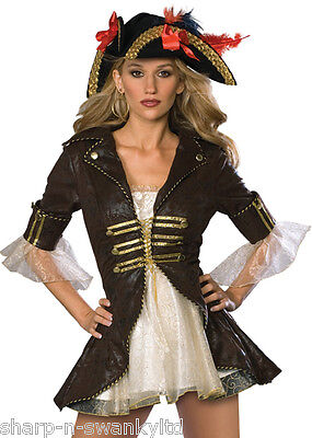 Erwachsene Damen Sexy Piratin Junggesellinnenabschied Kostüm Kleid Outfit