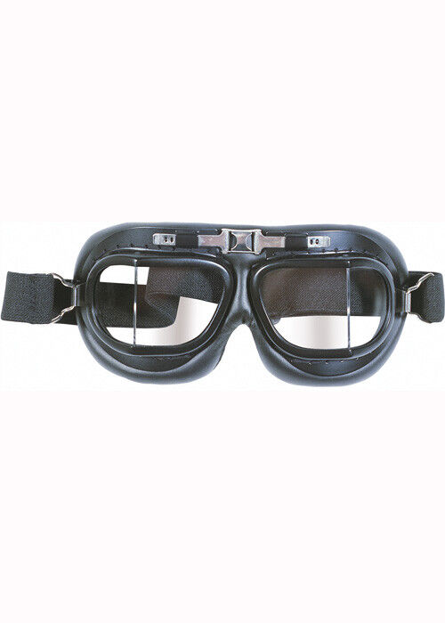 Aviator Fighter Pilot Deluxe Black Flying Goggles