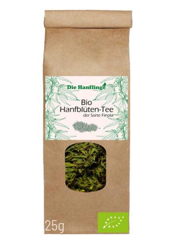 *BIO Hanftee – ganze Hanfblüten FINOLA 25g (Die Hanflinge)Cannabisbuds 3,4 % CBD*