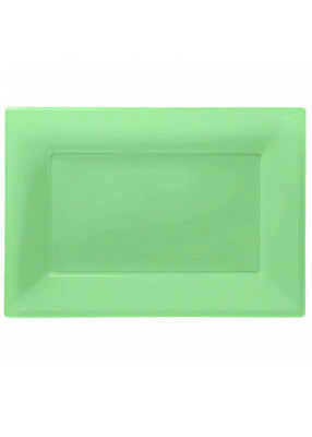 Lime Green Plastic Party Serving Platters Pk3 - Plastic Party Platters