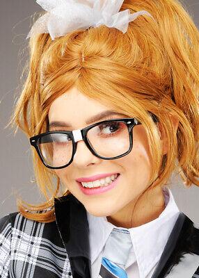 Dicke schwarze quadratische Nerd- oder Geek-Gläser mit Gips