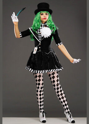 Womens Black and White The Joker Mime Costume