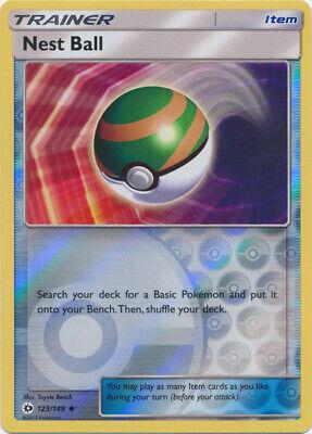 x4 Nest Ball - 123/149 - Uncommon - Reverse Holo Pokemon SM1 Sun & Moon Base M/N