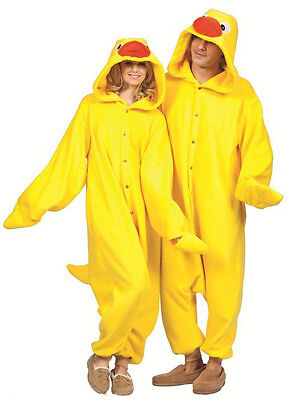 ADULT TUB TIME YELLOW DUCK DUCKY DONALD QUACK ANIMAL PAJAMAS COSTUME - Adult Donald Duck Costume