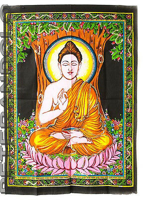 Batik Hanging Buddha Cotton 105x 74cm Hindu Peterandclo 4180
