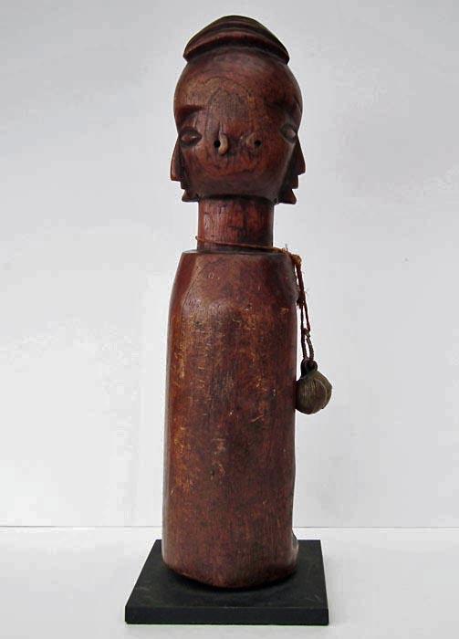 Authentic Yaka Diviner Janus Slit Gong Drum Mukoku Ngoombu Congo - Angola
