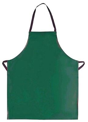 Green Vinyl Bib Apron No Pockets Butcher Craft Restaurant Dishwasher Usa New