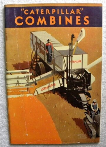1930 Caterpillar 38,34,36 Combine Advertising Sales Catalog, Cat Brochure