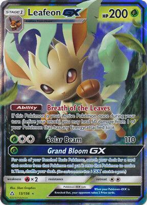 Pokemon Sm   Ultra Prism Leafeon Gx 13 156 Ultra Rare Card Nm
