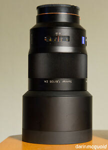Sony 135mm f/1.8 Carl Zeiss T* Telephoto Prime Lens
